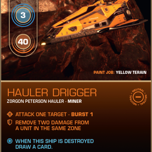 Battlecard of the Day – Hauler Drigger
